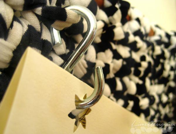 Textile Pinnwand Detail Haken
